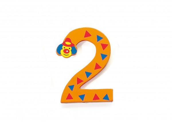 Zahlen aus Holz - Clown 2 bis 9