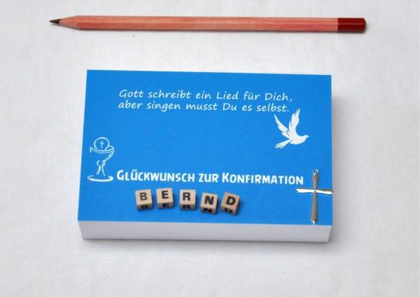 Konfirmation mit Namen in 8 Farben - Geldgeschenk Geschenkschachtel