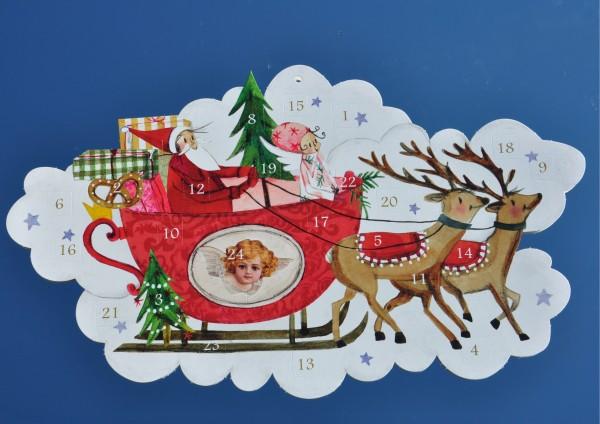 Weihnachtsschlitten - Adventskalender mit Türchen