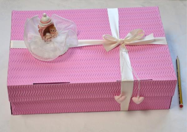 Zur Taufe Mädchen - Geschenkschachtel