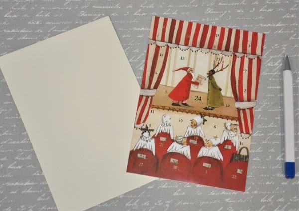 Weihnachtstheater - Adventskalenderkarte