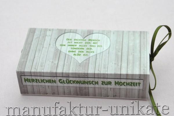 Schachtel zur Hochzeit - Spruch