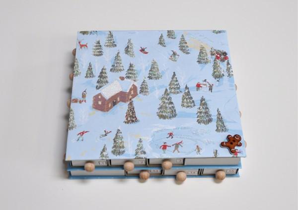 Schneelandschaft / Glitzer - Adventskalender gefüllt mit Tee
