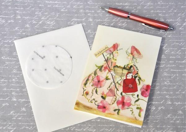 Trichterwinde - Klappkarte, Saatscheibe und Umschlag