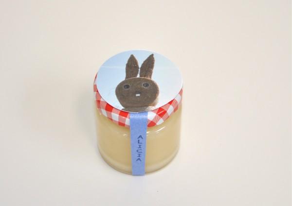 Hase zum Osterfest - Honig mit Wunschnamen - personalisiert - Gastgeschenk
