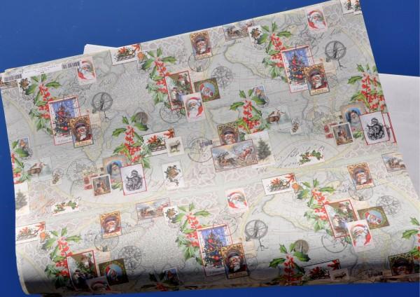 Post vom Weihnachtsmann - Geschenkpapier