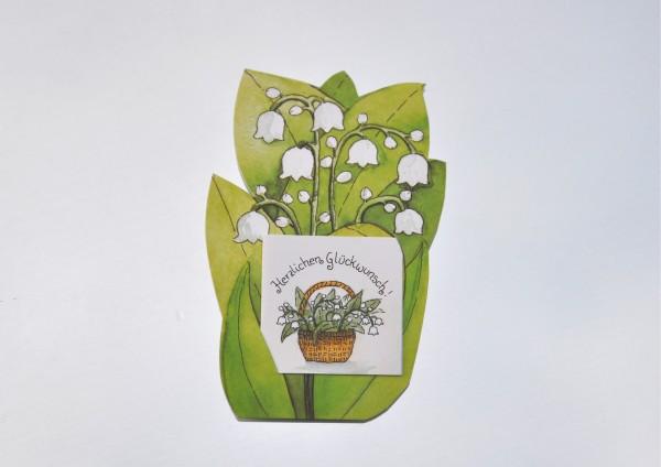 Maiglöckchen - Geschenkaufklebefigur