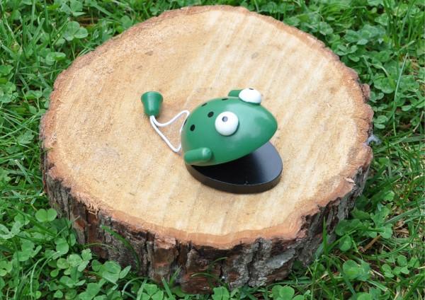 Frosch - Kastagnette aus Holz
