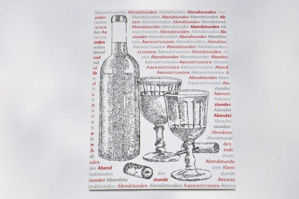 Abendstunden - Postkarte