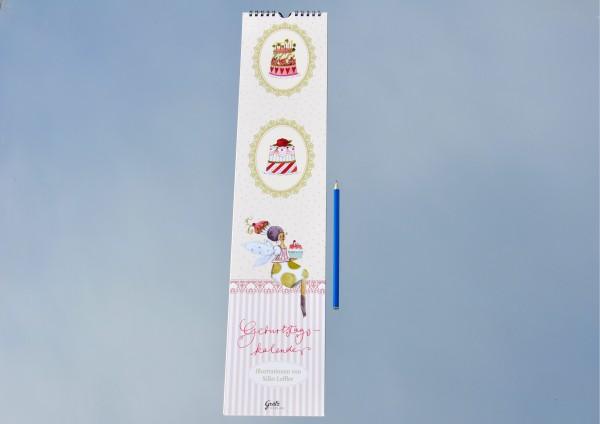 Blumengruß - Geburtstagskalender langes Format