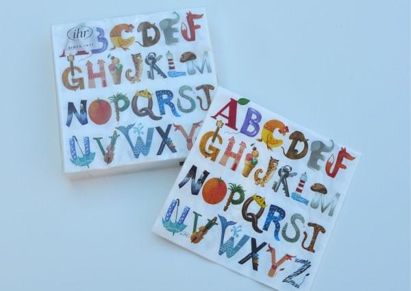 Alphabet - Servietten