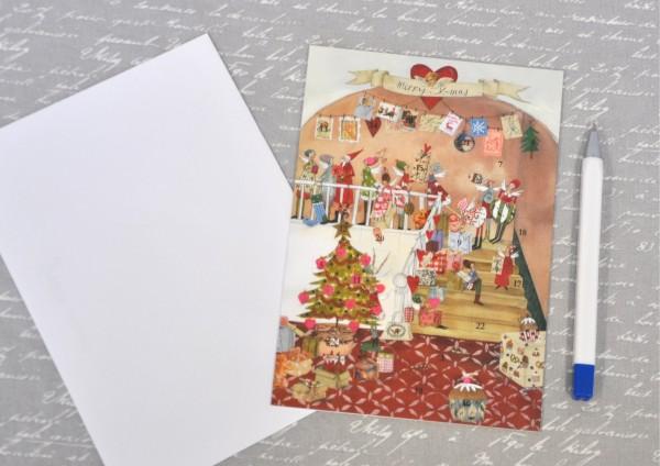Weihnachtsstube - Adventskalenderkarte