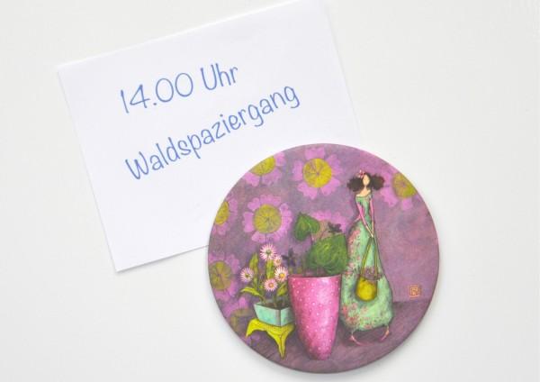 Gärtnerin - Ø 8,8 cm - Magnet