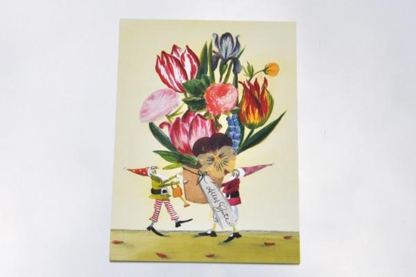 Blumentopf Alles Gute - Postkarte