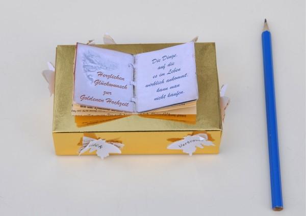 50. Hochzeitstag - Goldene Hochzeit - altes Buch
