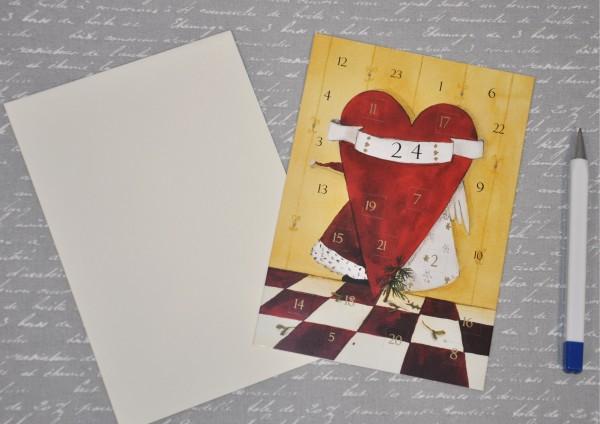 Weihnachtsküsse - Adventskalenderkarte
