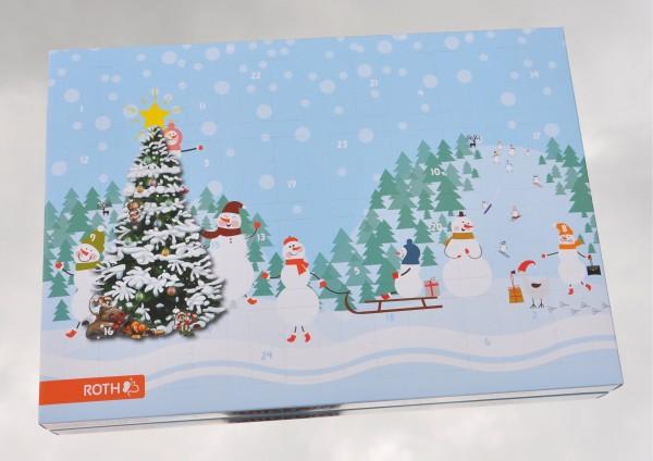 Schneemänner - Adventskalender zum befüllen