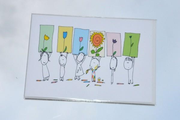 Kindergrüße - Klappkarte mit Umschlag