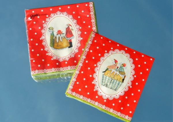 Süße Weihnachtszeit - Servietten