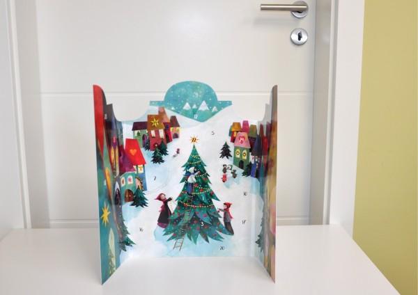 Winterland - Adventskalender mit Türchen zum Aufklappen