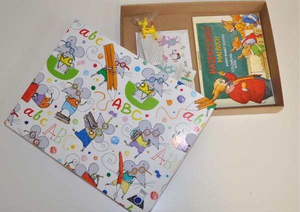 ABC Mäuse - Geschenkschachtel mit kleinen Geschenken für den Schulanfang