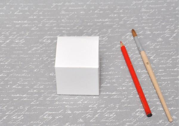 Würfelbox weiß - 6x6x6cm
