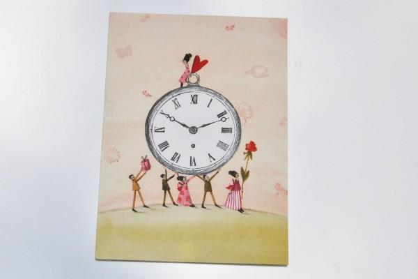 Zeit - Postkarte