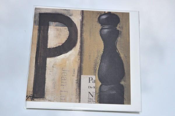P wie Pfeffer - Klappkarte mit Umschlag