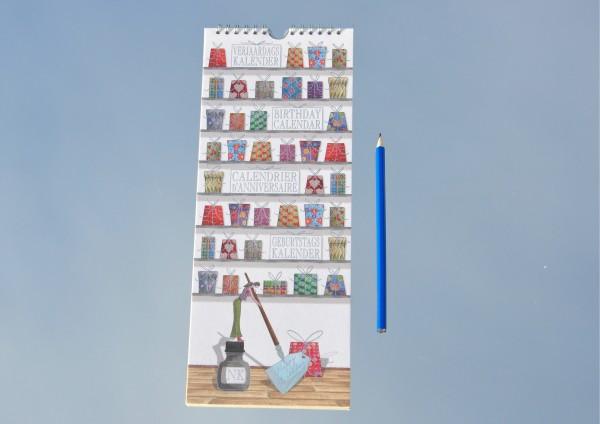 Jubeltage - Geburtstagskalender auf Büttenpapier