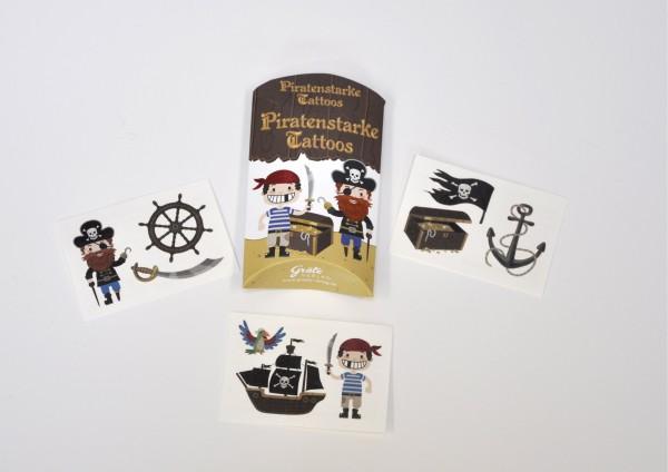 Piraten - Tattoos in der Kissenschachtel