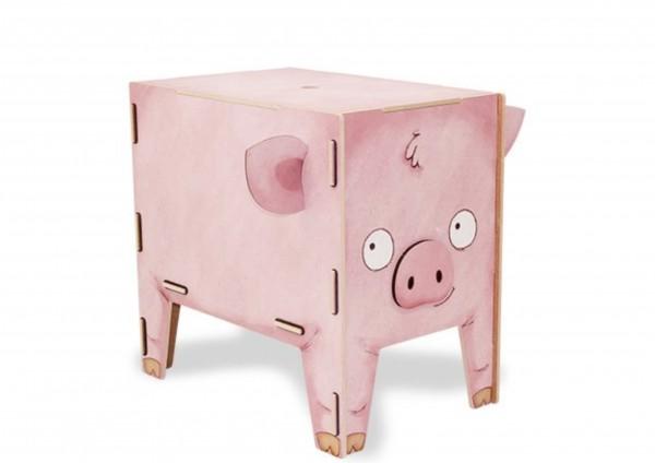 Schwein - Sitztruhe