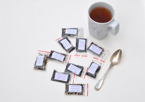 Schwarzer Tee je 1 Tasse - verschiedene Stückzahlen zur Auswahl