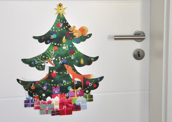 Tannenbaum - Adventskalender mit Türchen