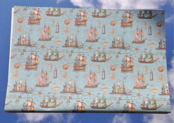 Segelboote / Seven Seas - Geschenkpapier