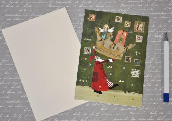 Kronenweihnachtsmann - Adventskalenderkarte