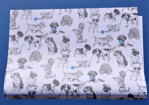 Welpen / Hundebabys - Geschenkpapier