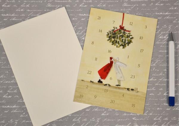 Mistelzweig - Adventskalenderkarte