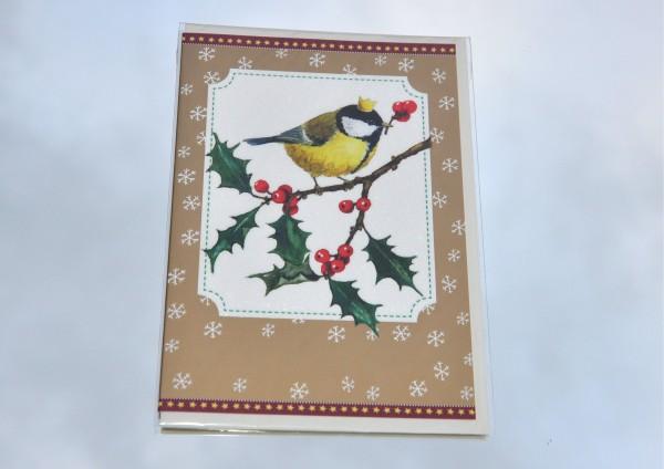 Vogelkönig - Klappkarte mit Umschlag