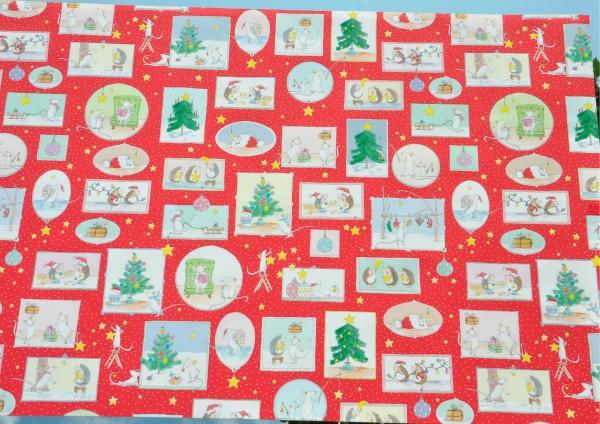 Vorfreude Weihnachten - Geschenkpapier Meterware