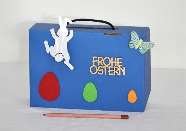Geschenkschachtel / Koffer Ostern - Kletternder Osterhase
