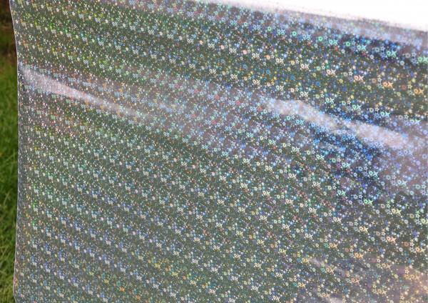 SILBER Hologramm Mini-Sterne- Geschenkpapier