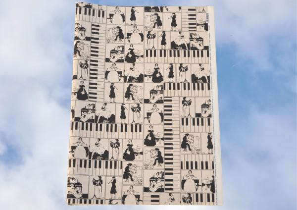 Pianoforte / Klavier - Geschenkpapier