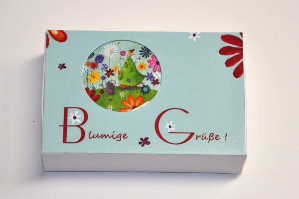 Schachtel mit Magnet - Blumen
