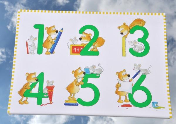 Zahlen-Bär mit Zahlen von 1 bis 12 - Geschenkpapier