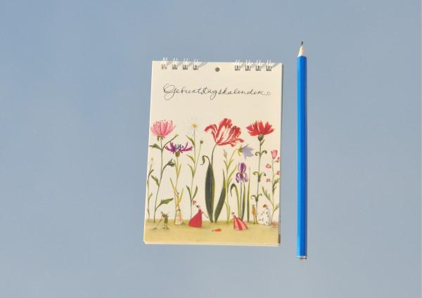 Blumengarten - Geburtstagskalender DIN A6