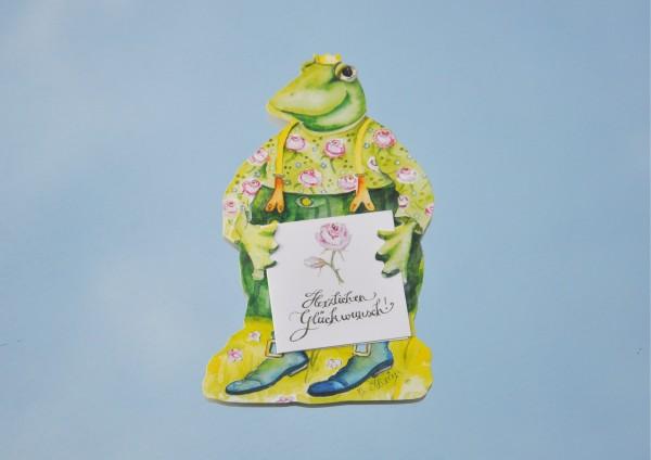 Froschkönig - Geschenkaufklebefigur