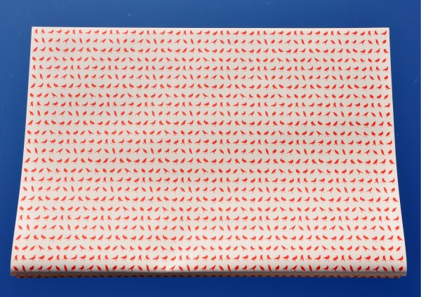 Mini Vögel Rot - Geschenkpapier