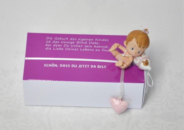Zur Geburt Mädchen- Geschenkschachtel