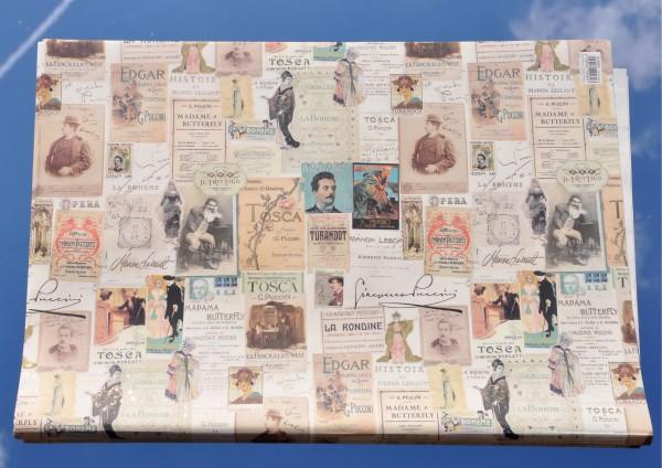 Tosca / Puccini - Geschenkpapier mit Golddruck