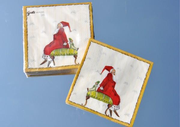 Weihnachtsmann - Servietten